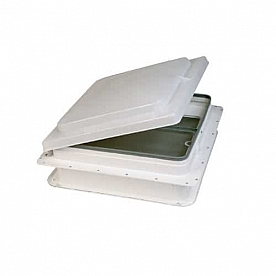 Heng's Industries RV Roof Vent Manual Opening Without Fan Colonial White Base White Lid V771401-C1G1