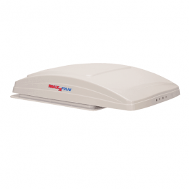MaxxFan Deluxe Roof Vent Remote Control Powered Opening - White  00-07000K