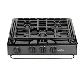 Suburban Stove Cooktop Black with Piezo Ignition Type 3231A