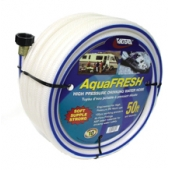 Valterra AquaFRESH RV Fresh Water Hose, 5/8″ X 50′, White - W01-6600