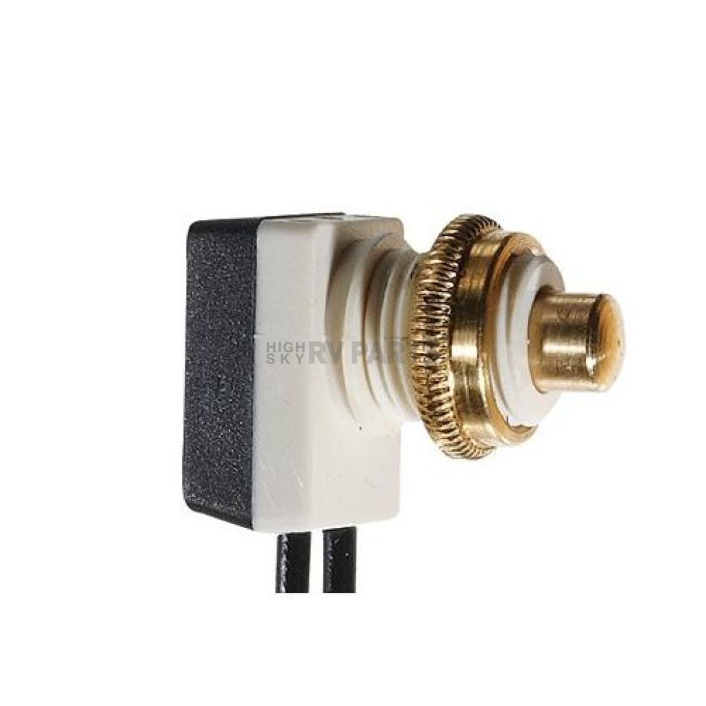 SPST Push Button Switch 10 Amp On // Off RV Designer S731 4.5 inch Leads