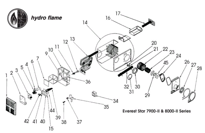 Atwood Model 7916-II | High Sky RV Parts | Hydro Flame Furnace Wiring Diagram |  | High Sky RV Parts