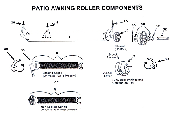 Airstream Patio Awning Roller Components High Sky Rv Parts